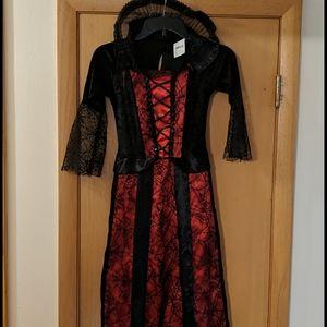 Gothic Vampiress Vampire Dress Halloween Costume